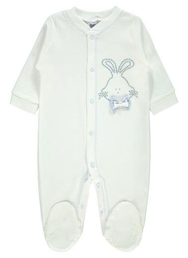 Misket Misket Kız Bebek Patikli Tulum 0-3 Ay Mavi Misket Kız Bebek Patikli Tulum 0-3 Ay Mavi Mavi